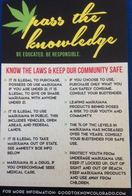 pass the knowledge. community safety on mj