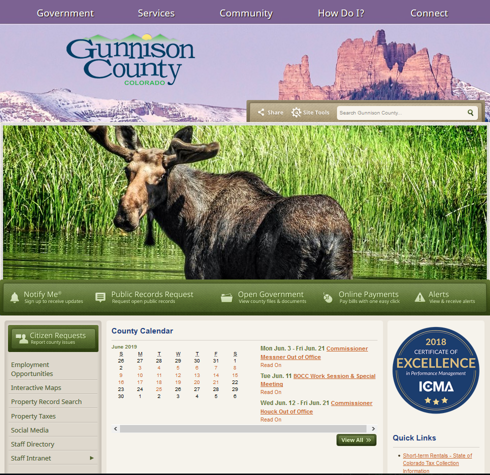 GunnisonCounty Website (Old Version)